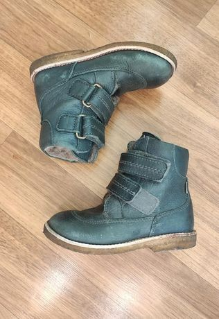 Bisgaard зимние кожаные сапоги на липучках