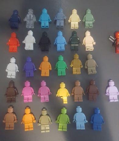Minifiguras monocromáticas compativeis lego