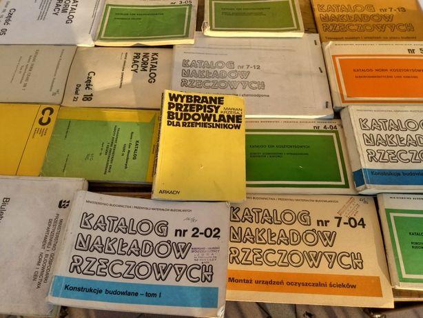 Katalogi norm pracy,nakładów rzeczowych