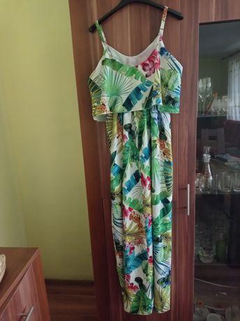 Sukienka tropikalna maxi