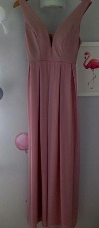 Sukienka tiulowa pudrowy róż roz. S/M
