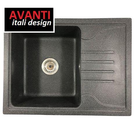 Кухонна гранітна мийка врізна прямокутна