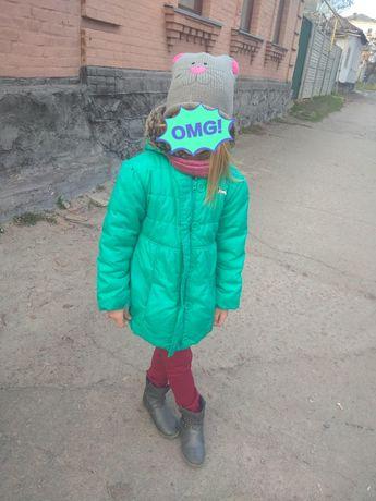 Куртка-пальто на девочку Деми 5-7 лет
