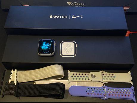 Zegarek Apple watch series 4 44mm Nike + /4 bransoletki + folia spigen