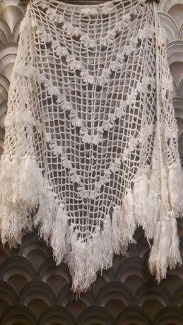 Платок, шаль, накидка... Вязаные.