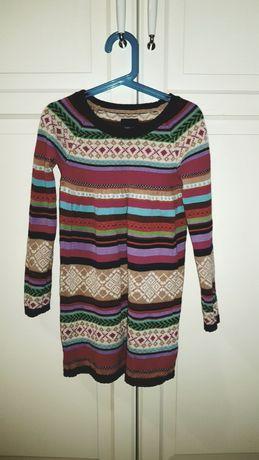 Sukienka GAP 6-7 122 sweterkowa święta norweskie skandynawski dzianina