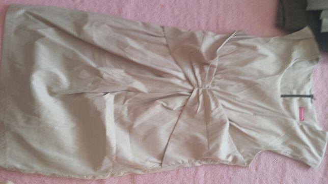Sukienka ciążowa z kokardą Happymum rozmiar L/XL