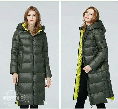 Женская куртка зимняя длинная биопух