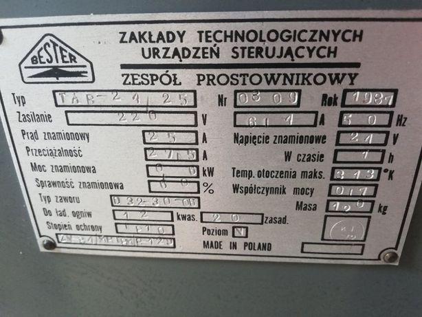 Zespół prostownikowy - Bester - typ TAR -24/25 rok 1981