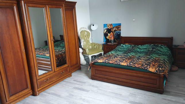 Drewniana sypialnia stylowa FIRENZE bydgoskie meble łóżko szafa szafki