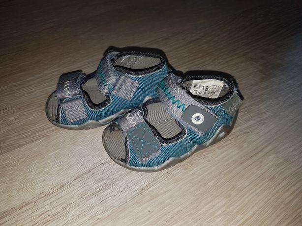 Sandałki 18 12cm Befado rzepy