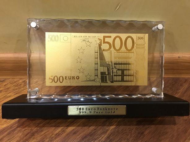 Золотая купюра «500» евро