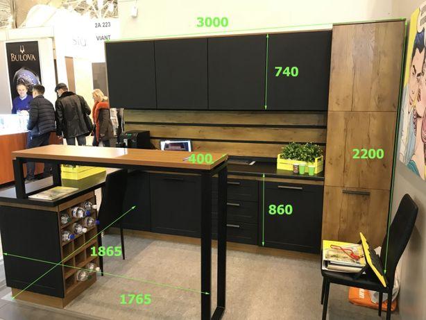 Распродажа кухня «Америка» блюм, типон, металл, МДФ 6,5 метров!