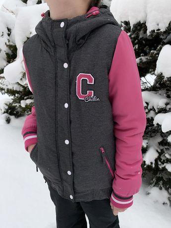 Kurtka zimowa dziewczęca 164 cm
