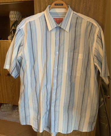 Koszula męska krótki rękaw 43/44