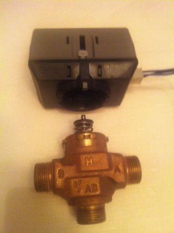 Трехходовой кран клапан с сервоприводом, электроприводом, Honeywell