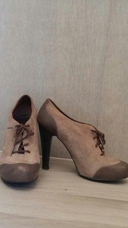 Туфлі шкіряні, замш