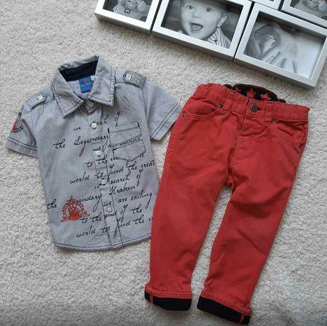 Джинсы и рубашка (р. 80)