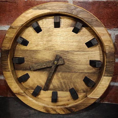 Zegar ścienny dębowy