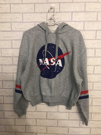 Szara bluza H&M z nadrukiem NASA