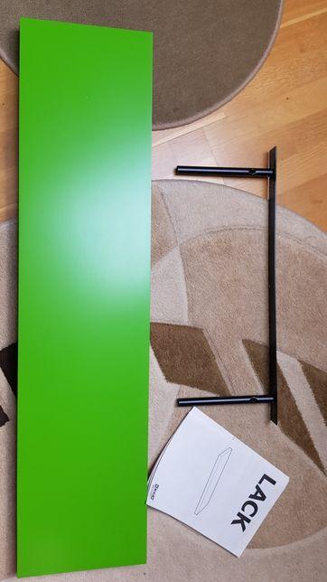 Półka LACK IKEA zielona stan bdb