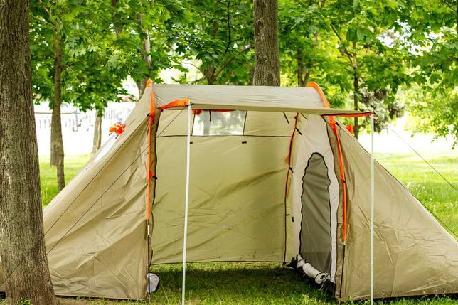 Палатка для кемпинга с тамбуром 4 местная