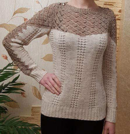 Тёплый свитер вязка