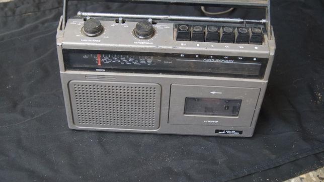 Zabytkowe stare radio radiomagnetofon kasetowy Astromaster DDR PRL