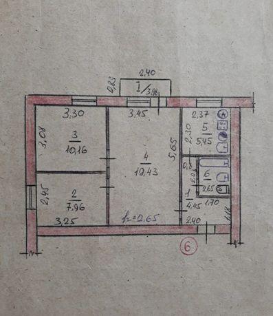 Продам 3-к. квартиру Магдалиновка