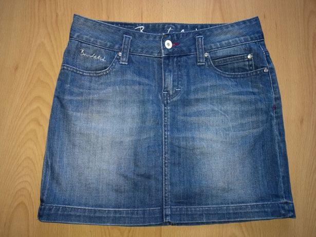 Spódniczka mini BONDELID roz. S jeansowa z laicrą , spódnica