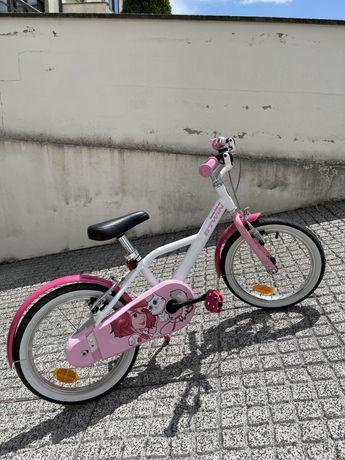 """Bicicleta de criança menina - roda 16"""""""