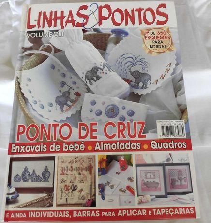 Livro Linhas & Pontos - Ponto de Cruz Vol. VIII