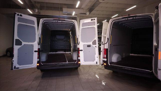 Profesjonalne zabudowy aut dostawczych busów VW Crafter L4H3