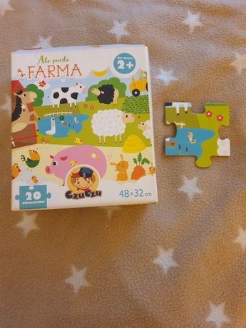 Puzzle Farma duże Czuczu 20 elementów 2+ 2 lata latka