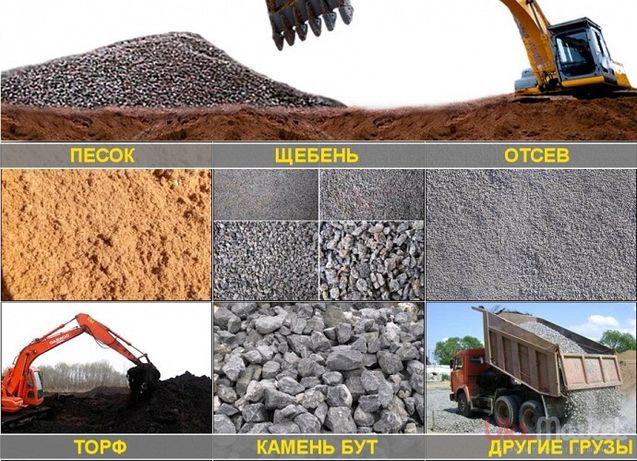 Песок,шлак,щебень,отсев,глина,чернозём.Вывоз мусора.Самосвал 2-40 т.