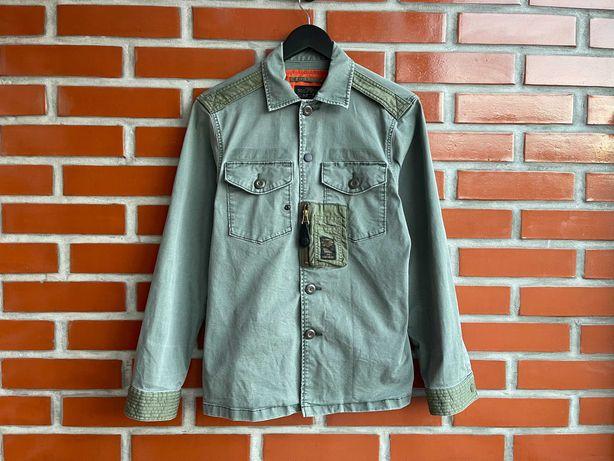 Replay оригинал мужская рубашка размер S реплай реплей милитари Б У