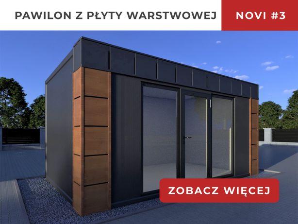 Pawilon z płyty warstwowej Biuro Domek Letniskowy kontener komis 6x3