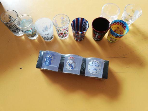 12 copos shot de cidades Europa