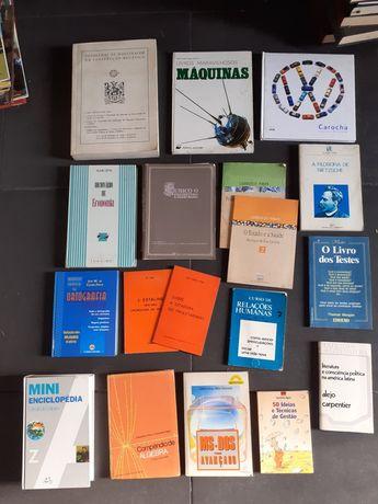 Livros antigos economia,  filosofia e outros : conj 18 livros