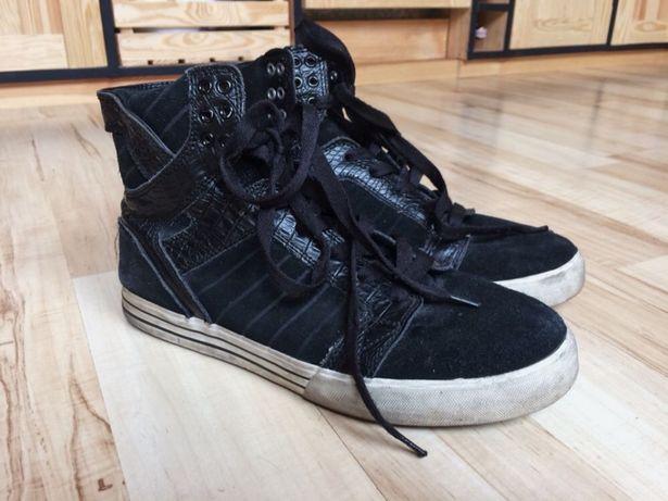 Czarne buty Supra skate tenisówki nad kostkę 42,5