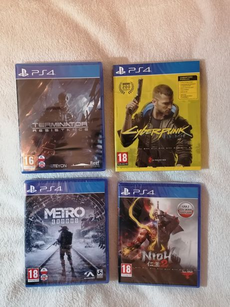 Nowe gry (zafoliowane) na PS4 Cyberpunk 2077, Terminator, Nioh2, Metro