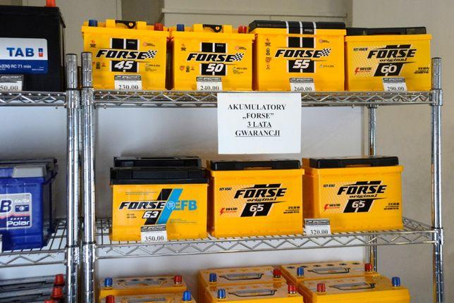 Akumulatory FORSE 45Ah - 110Ah DOWÓZ GRATIS !
