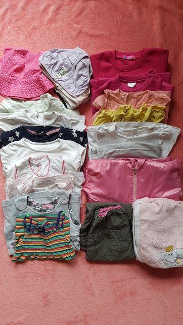 Paka dla dziewczynki bluzka, sukienka, tunika, majtki hm r.86/92