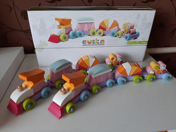 Деревянный конструктор Cubika