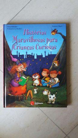 Livro historias maravilhosas para crianças curiosas