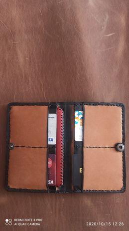Кожаный кошелёк,портмоне -  ручной работы!