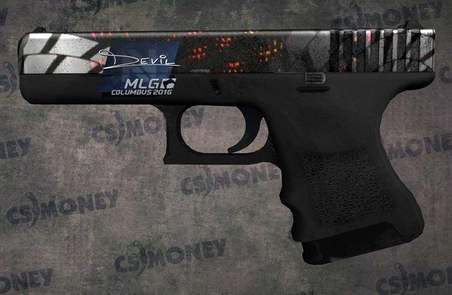 CS GO Skin Glock-18 Grinder Młynek MW Lekkie zużycie naklejka