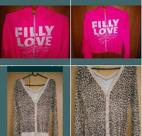 Bluzki bluzy modne neon panterka M/L