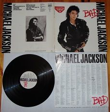 "Płyta winylowa Michael Jackson""Bad""."
