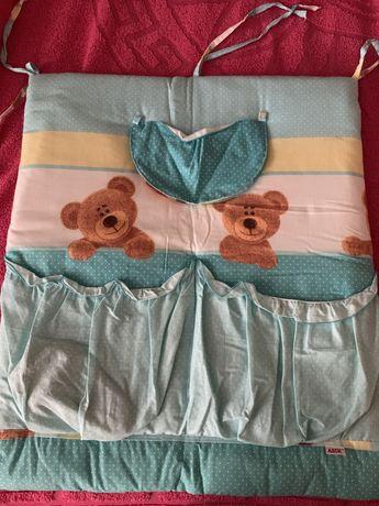 Защита для кроватки, балдахин + постельное белье в подарок